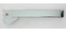 """Soporte 12"""" cromado para barra rectangular para riel 1/2"""""""