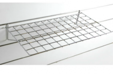 Tablilla 24x12 pulgadas cromadas recta para penel